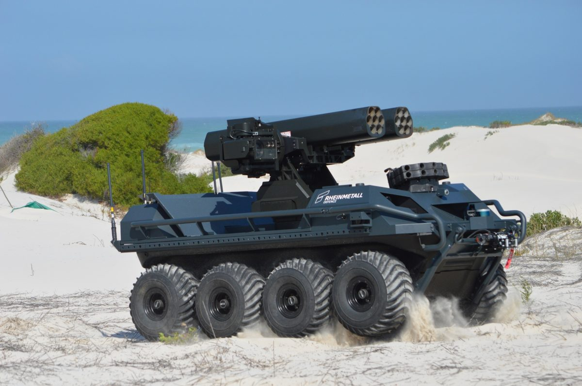 Rheinmetall builds armed drone tank