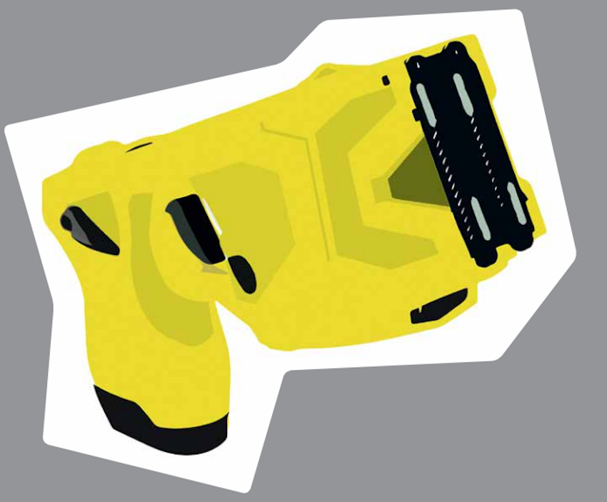 Taser at the German Federal Police: Shooting from the back