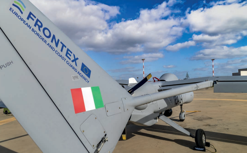 Italy and Frontex now monitor the Mediterranean Sea with large drones